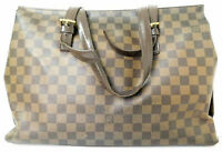 Louis Vuitton Damier Chelsea Tote Hand bag Brown Purse Auth Monogram