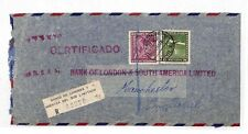 HH186 1931 Chile Santiago *BANK POST OFFICE* Registered London & S.America PTS