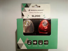 Reelight SL200 LED Bike Bicycle Cycling Front Head Rear Tail Lamp Light Set