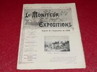 [REVUE EXPOSITION UNIVERSELLE 1900] LE MONITEUR DE 1900 N° 72 #  MARS 1900