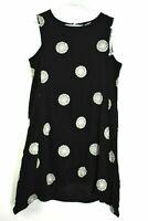 Madison Leigh Women's Size 18 Black & White Mandala Print Sheer Sleeveless Dress