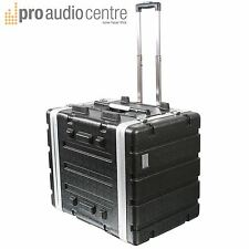 "Tour Trolley Flight Case ABS 19"" 7U Wheels & Handle for CD Players & Amplifiers"