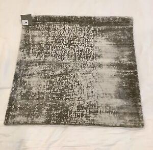 New Restoration Hardware Velvet Brushstroke Striated Square Pillow Cover $329