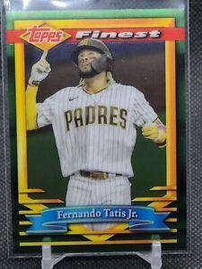 2021 Topps Finest Flashbacks Fernando Tatis Jr Baseball Card #66  Padres