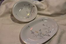 Vintage Eschenbach China W828 Blue, Gray,& Gold Beautiful 2 Serving Dishes