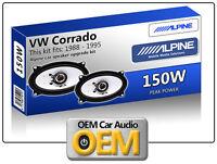 VW CORRADO hayon arrière haut parleurs Alpine 4x6 ENCEINTE VOITURE Kit 150W Max