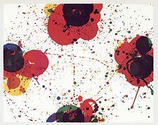 "Sam Francis ""Red Again"" vintage 1972 Gemini G.E.L."