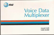 User Guide For the 04R Voice Data Multiplexer from AT&T - 1986!