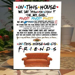 Friends TV Show Plaque, Family gift, In this house Self standing Wooden Plaque