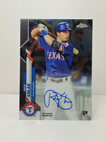 2020 TOPPS CHROME ON CARD ROOKIE AUTO NICK SOLAK TEXAS RANGERS STAR
