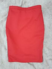 Women's High Wiasted Midi Pencil Tube Skirt Plain Red Size 10