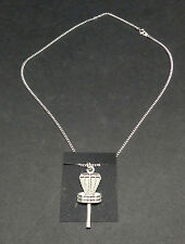 "New-Disc Golf Basket  Pendant Necklace.   1.5"".  24"" Metal Chain"