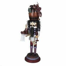 RETIRED 2011 ADLER HOLLY WOOD *WINE* WOODEN NUTCRACKER, FREE S/H, NIB