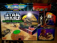 GALOOB  MICRO MACHINES STAR WARS HOTH,ENDOR,DEATH STAR,TATOOINE,DAGOBAH,ALL MIB