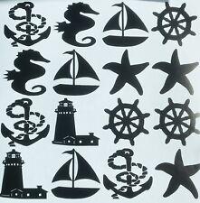 Anchor Boat Wheel Starfish Nautical Tile Stickers Bathroom Sticker Vinyl