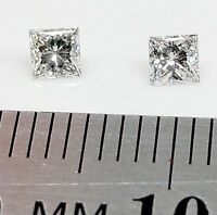 LOOSE DIAMOND - 1x  2.8mm x 2.8mm Princess Cut Natural Diamonds - FREE POST