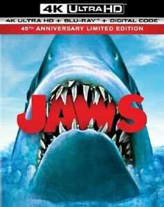 Jaws 45th Anniversary Limited Edition New 4K Mastering Blu-ray + Booklet