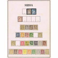 Collection Timbres Suisse Suisse Helvetia 1854/1978 Neuf avec Charnière et Usés