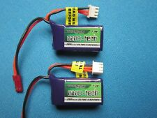 2 TURNIGY NANO-TECH 260mAh 2S 7.4V LIPO BATTERY JST 1/24 LOSI MICRO ROCK CRAWLER