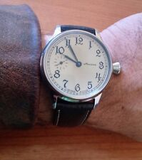 MOLNIJA Molnia wrist watch - pocket conversion SU 3602 -  Silver color dial