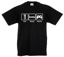 Niño Come Sueño Juego Camiseta 3-13yrs Jugador Xbox ps4 Regalo Compleaños