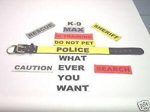 BIOTHANE POLICE K9 DOG TRAINING 2IN COLLAR  SCHUTZHUND CUSTOM MADE FOR YOUR NEED