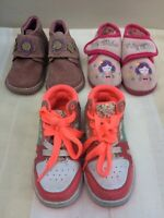 Girls Shoe Bundle Size 7 Next Pumps, Walkmates Pink Suede Boots, Fairy Slippers