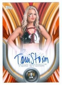 "TONI STORM ""ORANGE AUTOGRAPH CARD /50"" WWE WOMENS DIVISION 2020"