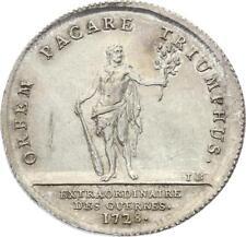 O3875 Jeton Louis XV Extraordinaires des Guerres 1728 Argent Silver SPL