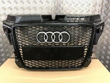 AUDI A3 S3 S-LINE RS3 STYLE GLOSS BLACK GRILLE 8P 2008-2012