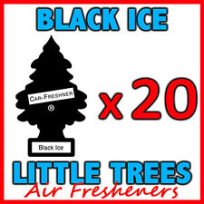 20 x BLACK ICE LITTLE TREES AIR FRESHENERS Freshener Scent Car Taxi Truck Uber