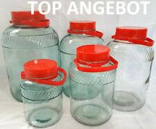 Gurkenglas mit Plastikdeckel Vorratsgläser Glas Aufbewahrung  Behälter DHL