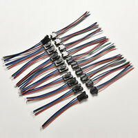 20 pcs Male&Female 4 Pin Connector with wire for 5050/3528 RGB Led Driver/Strip