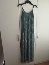 NWT Forever 21 Mint Green Chiffon Long Pattern Spaghetti Strap Maxi Dress XS