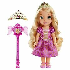 DISNEY PRINCESS RAPUNZEL TODDLER DOLL WITH SHARE WITH ME TIARA & WAND BRAND NEW