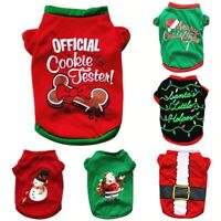 Christmas Winter Dog Pet Puppy Vest Shirt Jackets Clothes Costume Chihuahua Out