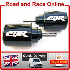Pair Black Honda CBR Logo Bar Ends Fit CBR600RR CBR600F CBR1100 + All Fireblades