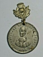 Scotland - Robert Burns - centenary of death 1896 - white medal metal