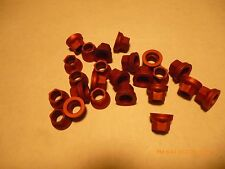 """New listing 1000 aluminum, racing, 3/8"""" 6 point nuts, 24 tpi, Red color, locking, aircraft"""