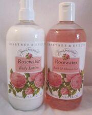 Crabtree & Evelyn 16.9 fl oz Bath / Shower Gel & Body Lotion Rosewater 1 EACH