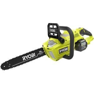 Brand New Ryobi 14 In. 40V Brushless Lithium-Ion Cordless Chainsaw &Battery