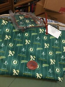 Dooney And Bourke Oakland A's Nylon Tote With Wristlet NWT