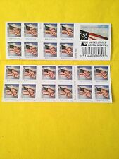 """USPS 20 FOREVER STAMP 1st CLASS MAIL  """"US Flag"""" Booklet, New 1/29/2016."""