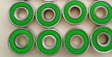 8 Pack Skateboard Bearings std size 8mm/608 longboard roller skate blade hockey