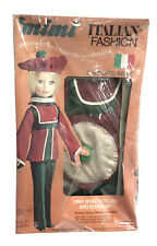 Vintage Remco 1973 Mimi Doll International Fashions - Italian Outfit- New
