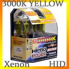 9005 HB3 3000K GOLDEN YELLOW XENON HID HALOGEN HEADLIGHT BULBS - HIGH BEAM