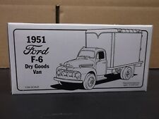First Gear 1951 Ford F-6 Dry Goods Van Precision Collectible Die-cast Metal 1/34