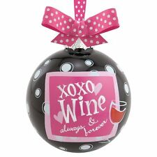 Ornament Epic Products XOXO Wine Always and Forever Wine Glass Bulb Glass