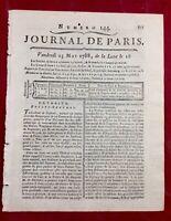 Aignay le Duc 1788 Rare Journal de Paris Dijon Journal de Bourgogne Sophocle