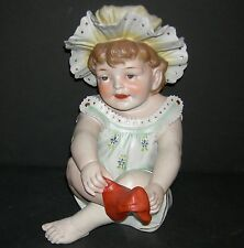 "PIANO BABY - CONTA & BOEHME - FIGURINE - PUTTING A RED SOCK ON!! - LARGE 11"" -"